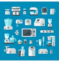 Home electronics appliances elements infographics vector