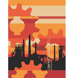 Industry factory background vector image
