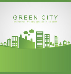 Isolated city buildings on green design vector
