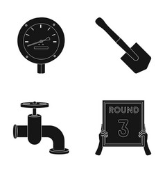 Manometer sapper shovel and other web icon in vector