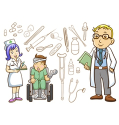 Medical and Hospital vector image