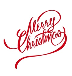 Merry Christmas Lettering - Design Element vector
