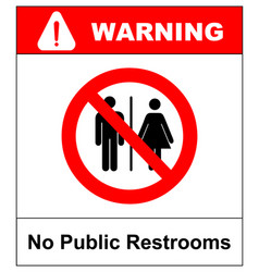 No public restrooms symbol do not pooping and vector
