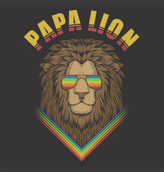 papa lion vector image