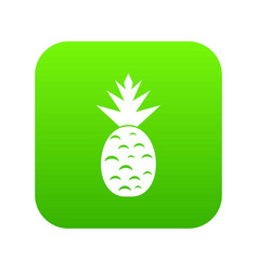 pineapple icon digital green vector image