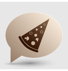Pizza simple sign Brown gradient icon on bubble vector
