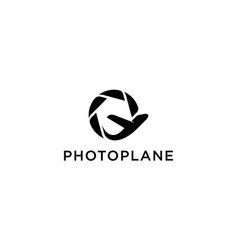 plane and photography logo concept vector image