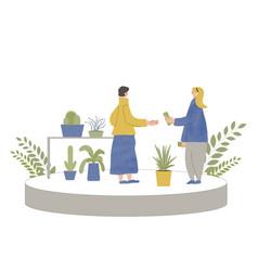 Plant shop local sale color vector