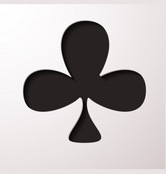 playing card club suit flat icon for apps and vector image
