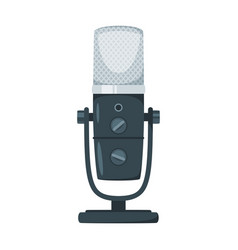 Professional microphone flat vector