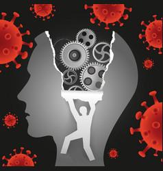 psychological examination depression coronavirus vector image