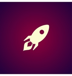 Rocket icon Flat design style vector image