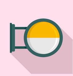 round city light box icon flat style vector image