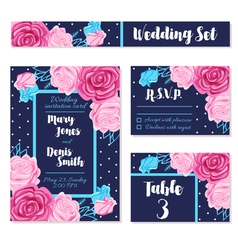 Save Wedding Date Invitations Cards vector image
