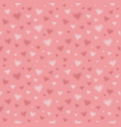 seamless pattern with blurred hearts repeating vector image
