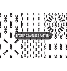 Set 6 seamless pattern easter greeting vector