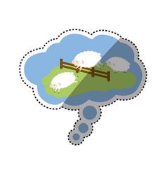 Sheep sleeping cartoon vector