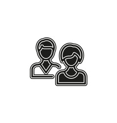simple people icon isolated vector image
