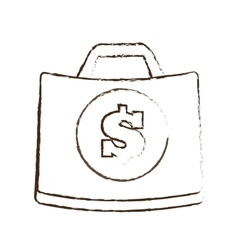 suitcase money business accessory sketch vector image