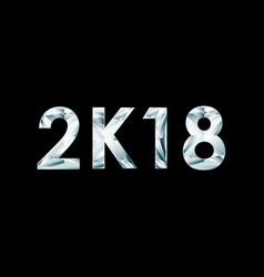 Symbols 2k18 on black background vector