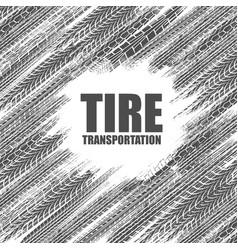 tire tracks circle wallpaper vector image