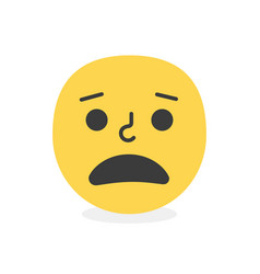 trendy malign emoji smile eps10 vector image