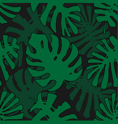 tropical pattern seamless texture with hand drawn vector image