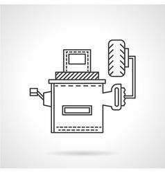 Wheel alignment equipment flat line icon vector
