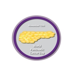 World Pancreatic Cancer Day - November 13 vector