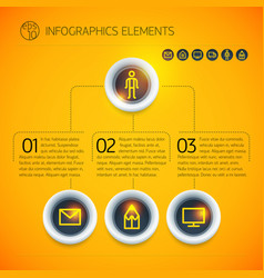 abstract digital business infographic elements vector image