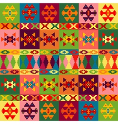 Ethnic motifs background carpet with folk vector image vector image