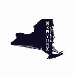 new york state abstract map vector image