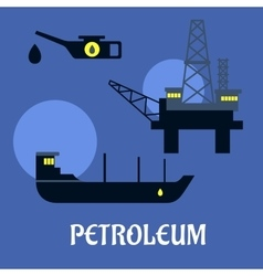 Petroleum industry flat infographics icons vector image vector image