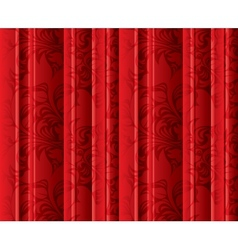 Seamless floral texture on the red curtains vector image vector image