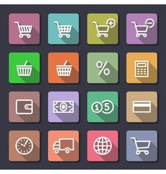 Shopping icons set Flaticons series vector image vector image