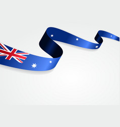 Australian flag background vector image vector image