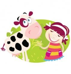 farm girl vector image vector image