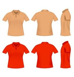 men polo t shirts vector image vector image