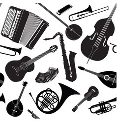 music sign seamless background musical vector image
