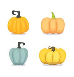 set cartoon pumpkin isolated vector image