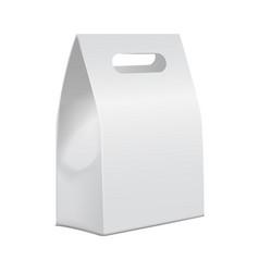 white 3d model cardboard take away food box mock vector image vector image