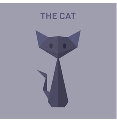 cat animals origami flat low vector image vector image