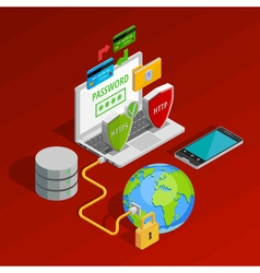 Data Protection Concept Composition vector image vector image