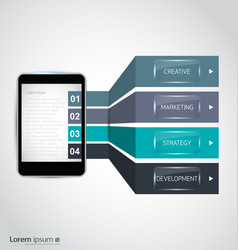 infographic smartphone vector image vector image