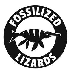 Jurassic funny logo simple black style vector
