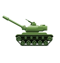 military tank isolated vector image vector image