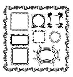 set of graphic frames vector image vector image