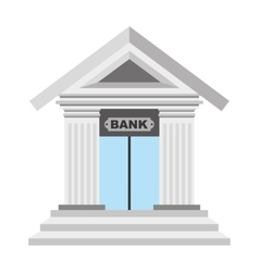 bank isolated icon design vector image vector image