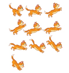 Cat Jumping Animation vector image