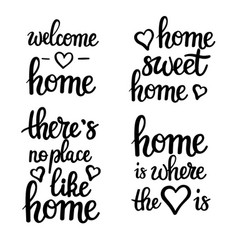 home motivational quotes lettering vector image vector image